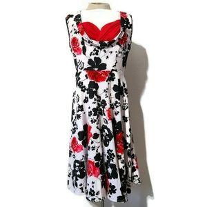 Rockabilly retro floral pin-up dress